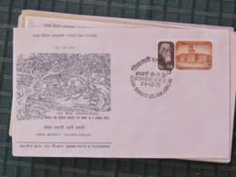 India 1971 FDC Cover - Visva-Bharati - Rabindranath Tagore - Refugee Tax Stamp On Back - India