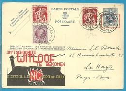 195+339 Op Publibel (Eierbollen -Nord De Gilly)  Stempel BRUXELLES Naar Holland - Stamped Stationery