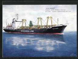 Künstler-AK Handelsschiff Ever Pioneer Auf Hoher See - Cargos