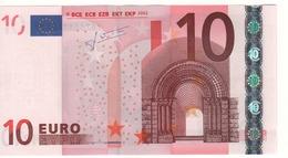 "10 EURO  ""Y"" Greece    Firma Trichet    N 027 A1   /  FDS - UNC - EURO"