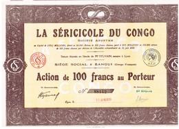 Titre Ancien - La Séricole Du Congo - Titre De 1929 - N° 88142 - Afrique
