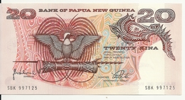 PAPOUASIE NEW GUINEA 20 KINA ND1988 UNC P 10 - Papouasie-Nouvelle-Guinée