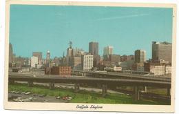 W4373 Buffalo - Skyline And Skyway Bridge / Viaggiata 1969 - Buffalo