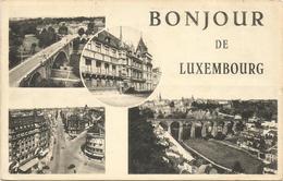 W4374 Bonjour De Luxembourg / Viaggiata 1966 - Lussemburgo - Città