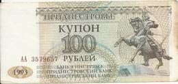 TRANSNISTRIE 100 RUBLEI 1993 VF P 20 - Moldavie