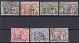 Belgium 1934 TBC Mi#386-392 COB#394-400 Used - België
