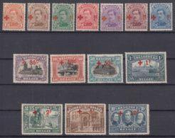 Belgium 1918 Red Cross, Croix Rouge Mi#129-142 COB#150-163 Mint Hinged - 1918 Rotes Kreuz