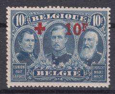 Belgium 1918 Red Cross, Croix Rouge Mi#142 COB#163 Mint Never Hinged, Superb Example - 1918 Red Cross