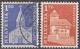 HELVETIA - SUISSE - SVIZZERA - 1966 - Serie Completa Usata Composta Da 2 Valori: Yvert 764/765. - Usati