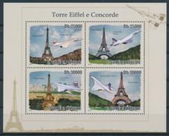 D - [401739]TB//**/Mnh-Sao Tomé-et-Principe 2009 - Tour Eiffel Et Concorde - Monuments