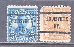U.S. 586-87  Perf. 10    (o)   STATE  KY.  1923-26  Issue - Precancels