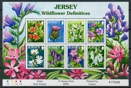 Jersey MiNr. 1187-94 Postfrisch MNH Blumen (Blu445 - Jersey