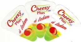 """Algérie - 3 étiquettes De  Fromage Fondu """" Cheezy Plus à L'edam"""" -  Fond Blanc. - Fromage"""