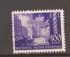 1942  81  HRVATSKA CROAZIA KROATIEN BOSNIA PHILATELISTISCHE AUSSTELLUNG BANJA LUKA MNH - Croatie
