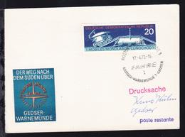ROSTOCK-WARNEMÜNDE 1 L FÄHRE ROSTOCK-WARNEMÜNDE 1-GEDSER 17.4.72 Auf Postkarte - Ohne Zuordnung