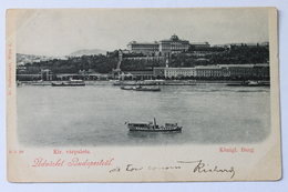 Kir. Kiralyi Varpolata, Königl. Burg, Üdvözlet Budapestről, Budapest, Magyarország Hungary, 1898 - Hungary