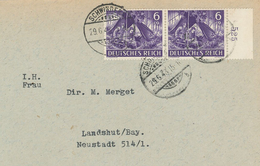 Schwingegg [Oberbayern] 1943 Brief Nach Landshut - Fernmeldetrupp Funker - Briefe U. Dokumente