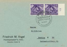 Braunau Inn - Unser Führer Bannt Den Bolschewismus - Fernmeldetrupp Funker 1943 - Vogel Hartmannsdorf - Briefe U. Dokumente