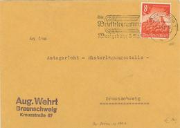 Heidelberg - Braunschweig 1941 - Brieftelegramme Wortgebühr 5 Rpf - Ortsbrief - Briefe U. Dokumente