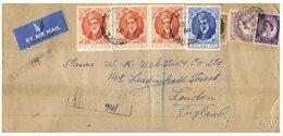 (D 9) Cover - Registered Cover Posted From Zanzibar To England (dual Zanazibar Anf UK Stamp Franking = Unusual) - Zanzibar (...-1963)