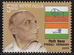 India MNH 2009, Pingai Venkaiah, Patriot, Designer Of Indian National Flag, - Nuevos