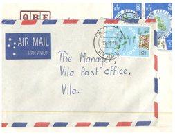 (D 9) Cover - New Hebrides (now Called Vanuatu) 2 Cover - 1970's (map) - Autres