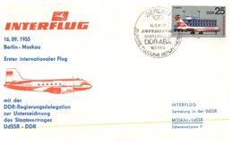 (D 9) Cover - East Germany - Interflug Flight 1980 - Aviones