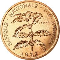 Monnaie, Rwanda, 5 Francs, 1977, Paris, ESSAI, SPL, Bronze, KM:E5 - Rwanda