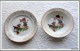 2  Jolies Petites Assiettes D'enfant 1 Plate,1 Creuse - Porcelaine De France Paris 2 - Other