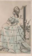 WW Carte Reutlinger Avec Paillettes En Ajoutis Sur Robe Et Chapeau - Altri Fotografi