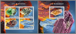 TOGO 2019 MNH Minerals Mineralien Mineraux M/S+S/S - OFFICIAL ISSUE - DH1933 - Minerali