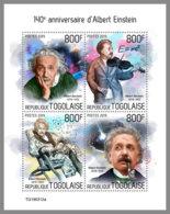 TOGO 2019 MNH Albert Einstein M/S - IMPERFORATED - DH1933 - Albert Einstein