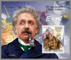 TOGO 2019 MNH Albert Einstein S/S - IMPERFORATED - DH1933 - Albert Einstein
