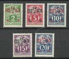 Estland Estonia 1928 Michel 68 - 72 * - Estonie