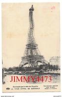 CPA - HUMOUR - PARIS - LA TOUR EIFFEL SE GONDOLE - Estomaquée Par La Visite Des Zeppelins - Edit. E. Le Deley - Humour