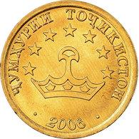 Monnaie, Tajikistan, 25 Drams, 2006, St. Petersburg, SPL, Brass Clad Steel - Tadjikistan