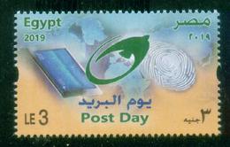 EGYPT / 2019 / POST DAY / MAP / FINGER PRINT / BIRD / TABLET COMPUTER / MNH / VF - Neufs