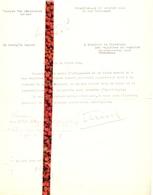 Brief Lettre - Advocat Georges Van Steenbeeck Bruxelles  - Naar Kadaster 1930 + Brief Met Antwoord - Non Classificati