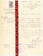 Brief Lettre - Gemeente Zomergem   - Naar Kadaster 1925 + Brief Met Antwoord - Non Classificati