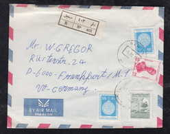 Syria 1986 Registered Airmail Cover DAMASCUS To FRANKFURT Germany - Syrië