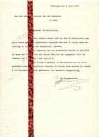 Brief Lettre - Burgemeester Gemeente Zomergem   - Naar Kadaster 1927 + Brief Met Antwoord - Non Classificati
