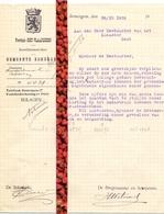 Brief Lettre - Burgemeester Gemeente Zomergem   - Naar Kadaster 1926 + Brief Met Antwoord - Non Classificati