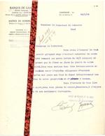 Brief Lettre - Banque De Gand   Zomergem   - Naar Kadaster 1929 + Brief Met Antwoord - Non Classificati