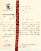 Brief Lettre - Burgemeester Gemeente Zomergem  - Naar Kadaster 1931 - Non Classificati