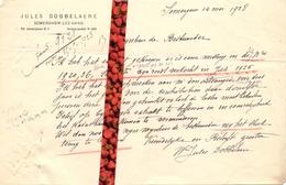 Brief Lettre - Jules Dobbelaere Zomergem  - Naar Kadaster 1928 + Brief Met Antwoord - Non Classificati