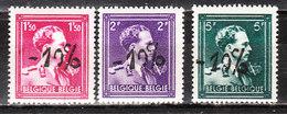 724N/P**  Leopold III Col Ouvert Surchargé -10% - OOSTMALLE - Série Complète - MNH** - LOOK!!!! - 1946 -10 %