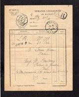 1919 Demande Collective De Mandats / CAD Recette Auxiliaire Urbaine Caen B Sur Semeuse + Divers Cachets à L'intérieur - Poststempel (Briefe)
