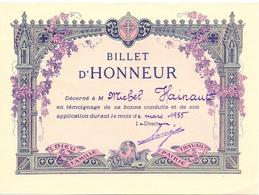 Billet D' Honneur à Michel Hainaut 1955 - Non Classificati