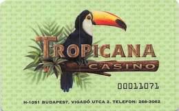 Tropicana Casino Budapest Hungary Entry Card .....[FSC]..... - Casino Cards