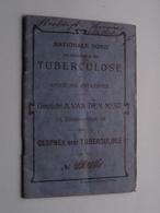 TUBERCULOSE Gesticht A. VAN DEN NEST (Blindenstraat) Gesprek Over TBC ( Mestdagh Lem N° 48471 ) > ( Details Zie Foto ) ! - Oude Documenten
